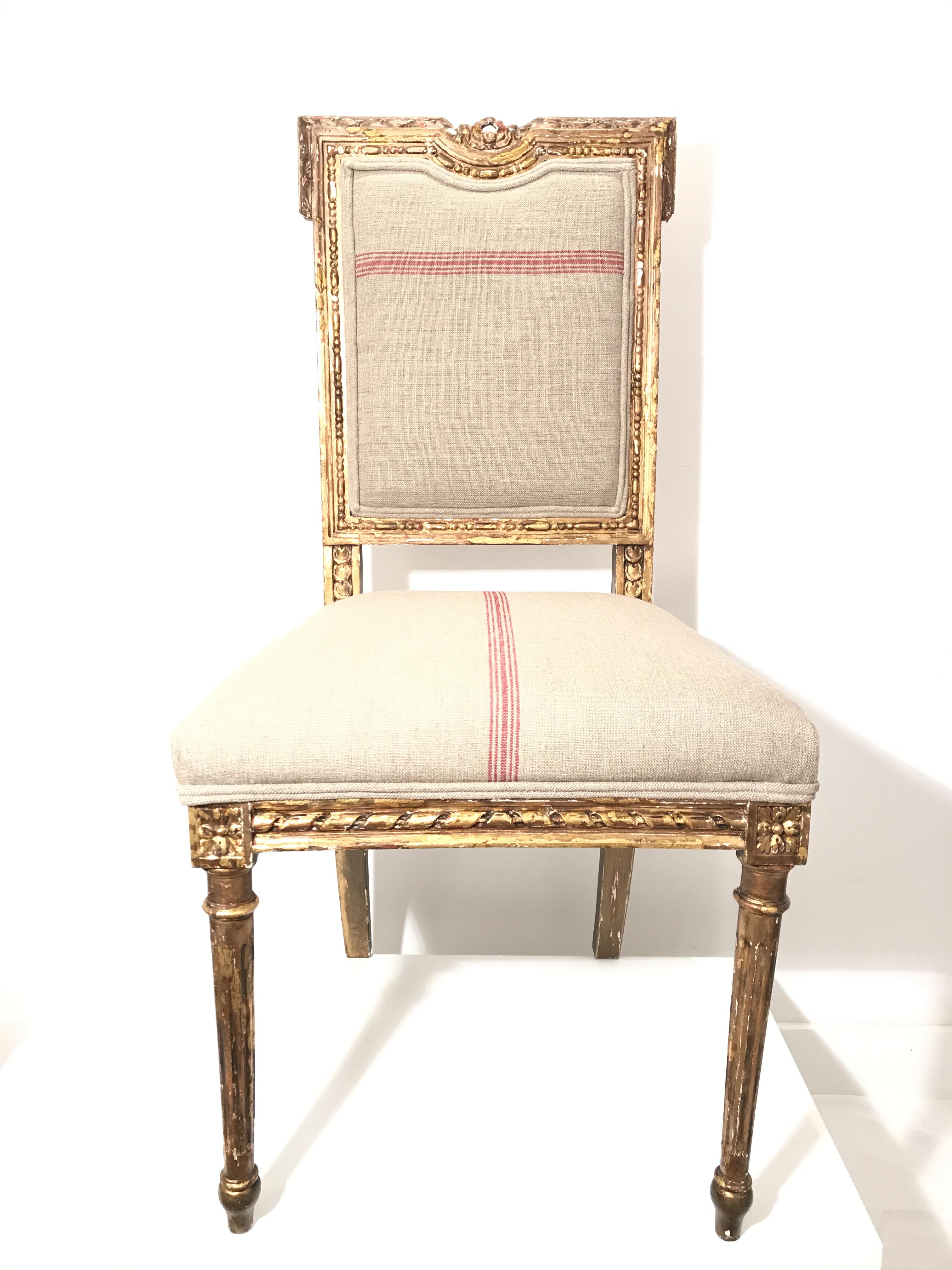 Silla estilo Luis XVI s. XIX